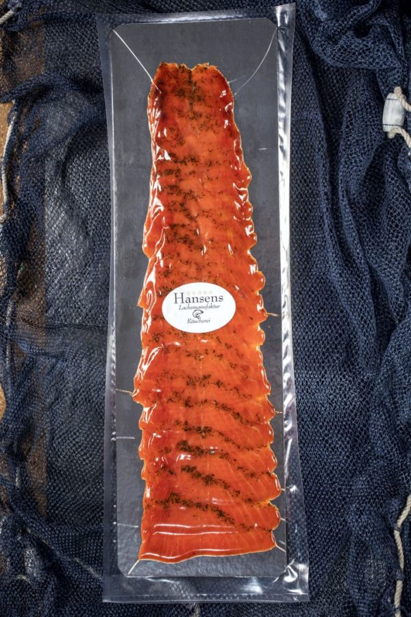 Kanadischer Sockeye Lachs ganze Seite geschnitten verpackt
