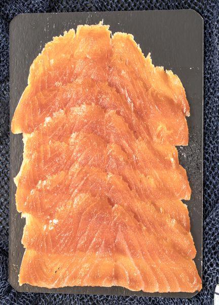 Norwegischer Lachs Scheiben verpackt